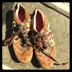 Coach Animal Print leather shoes